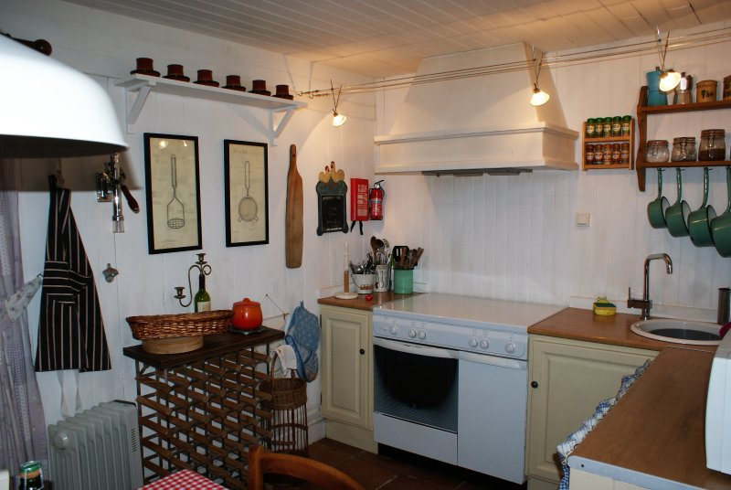 Our lovely characterful kitchen.
