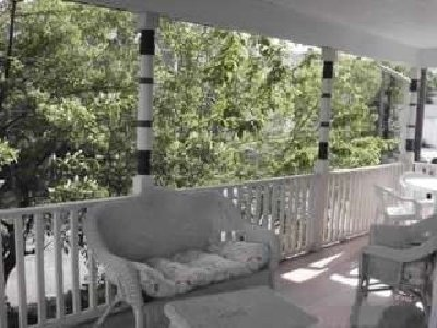 Peaceful wrap around porch