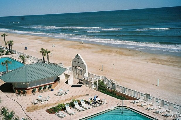 Pool Deck and  Beach