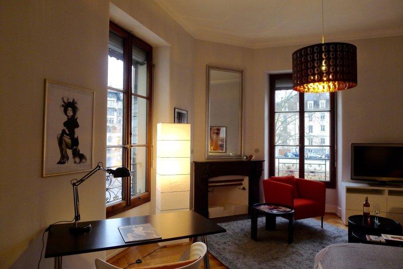 Appartement de 2 pièces d'angle au centre ville et à 2 pas de la vieille ville, holiday rental in Carouge