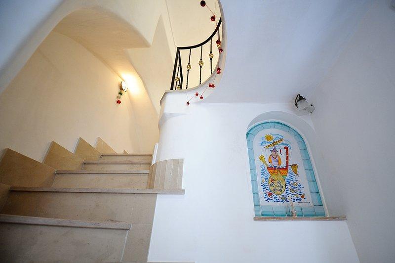 Entrance - inside steps