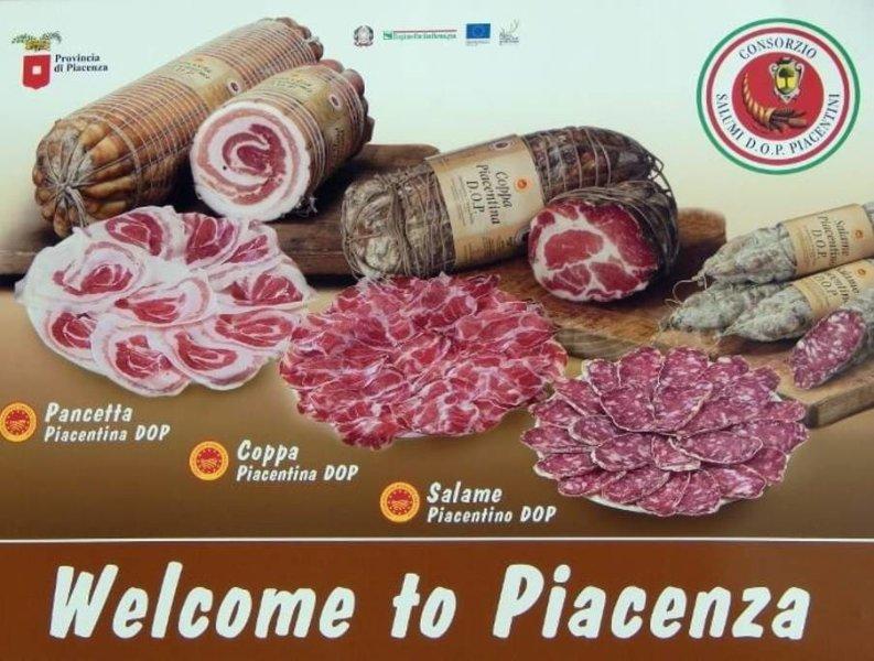 Three cold cut DOP of Piacenza