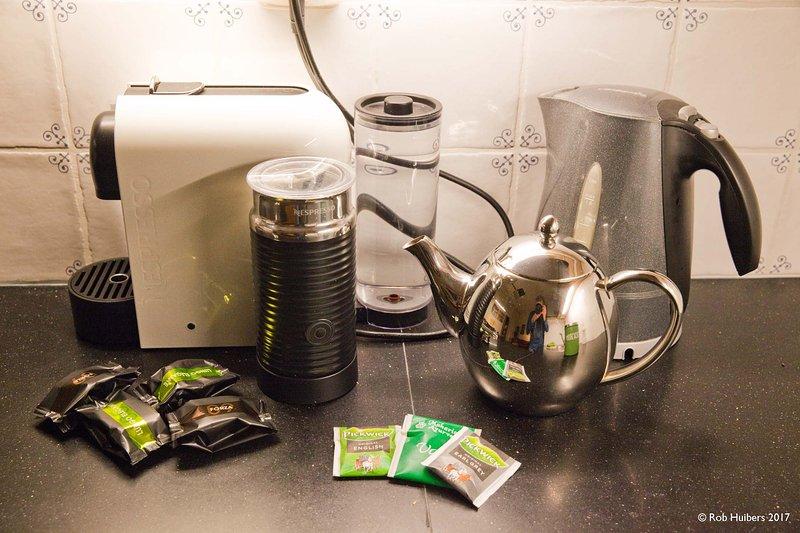El café y el té de la casa.