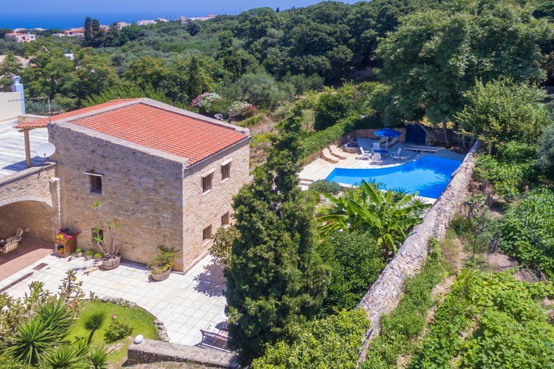 Historical monument in a traditional village of Gallos, close to Rethymno town and the beach