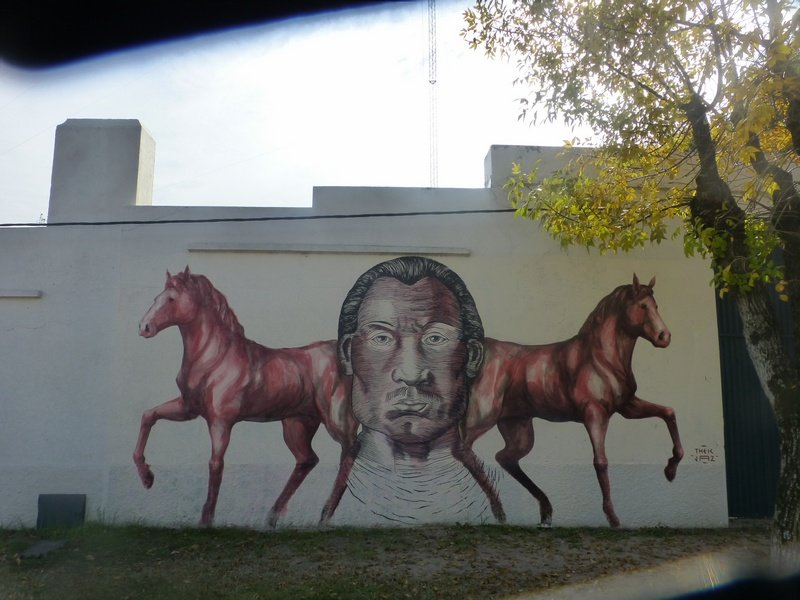 Wall decoration in the village