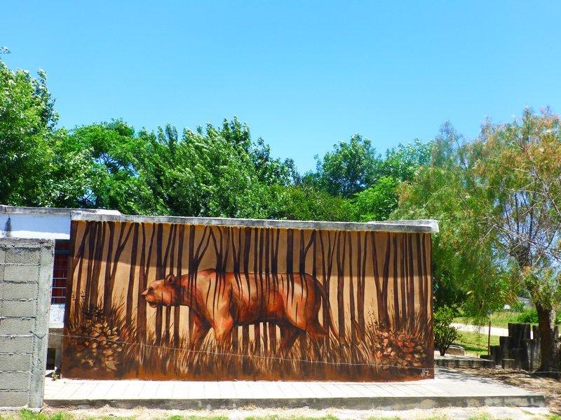 decoración de la pared en el pueblo