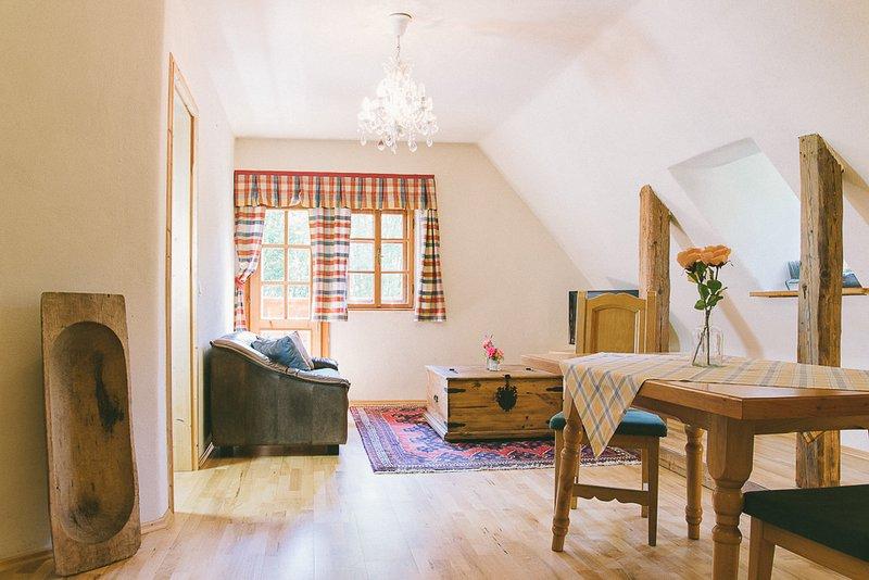 Apartmentwohnung Teichwiesn Teichblick, location de vacances à Hirschegg Rein