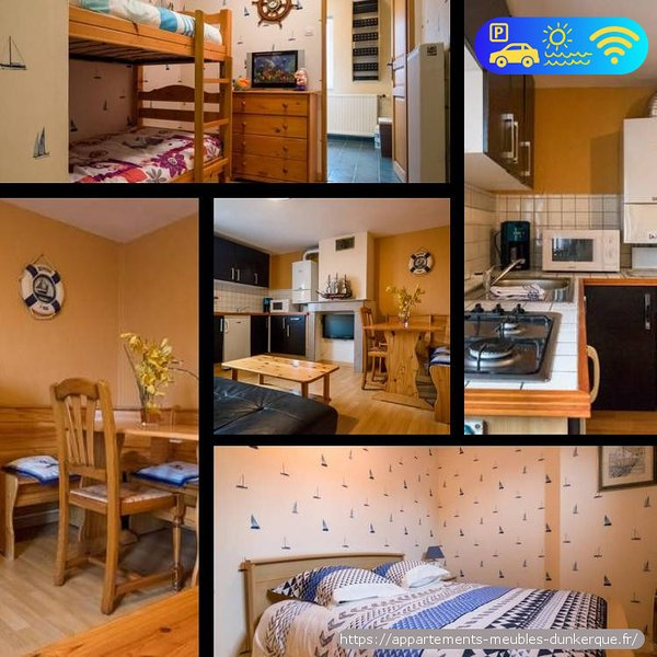 Appartement 45m2 bord de plage Dunkerque - Malo les Bains, holiday rental in Gravelines