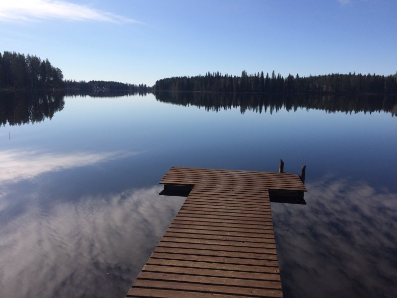 Idyllic Lake House in Central Finland with own sandy beach, alquiler vacacional en Northern Savonia