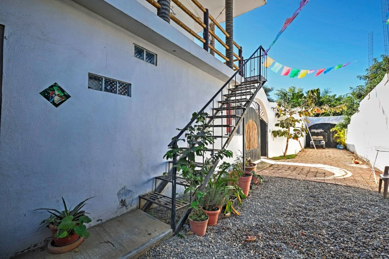You'll be a 15-minute walk from the beach when you stay at this lovely property.