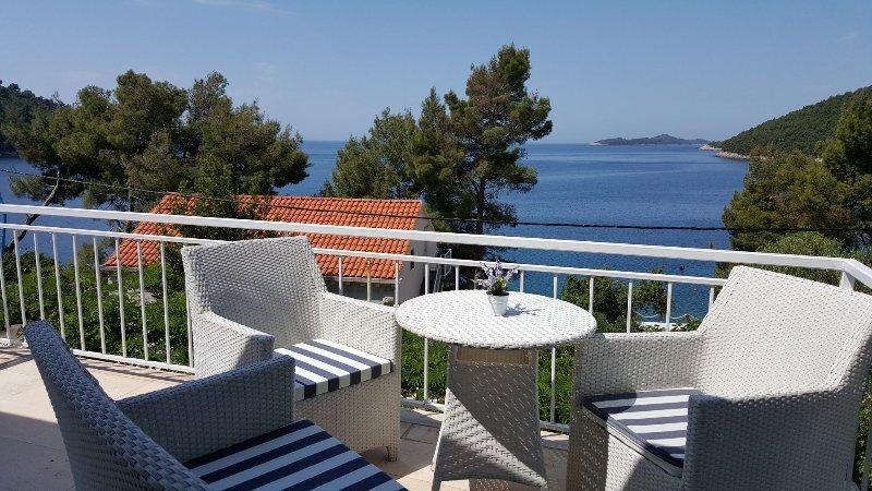 Villa Antea - 80 m from the beach :  H(8+1) - Brna, holiday rental in Brna