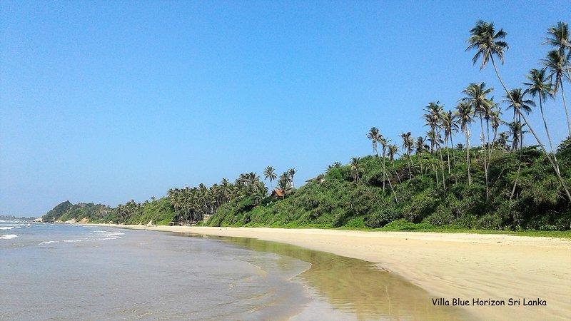 villa blue horizon sri lanka long white sand beach accessible from our garden