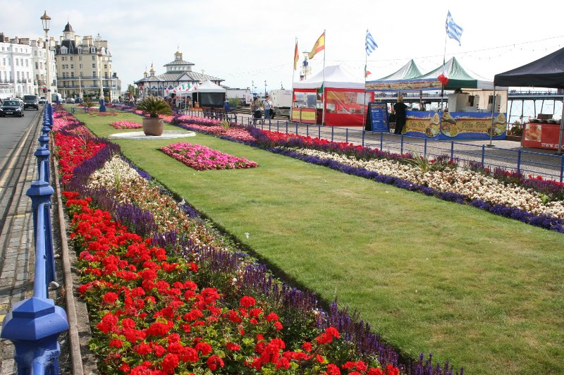 Eastbourne carpet gardens are beautiful anytime of the year!