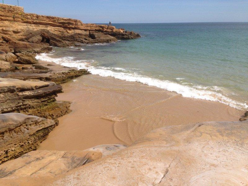 Pequeña playa en Luz
