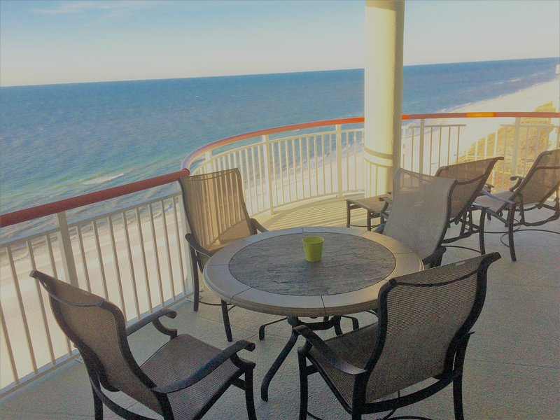 Enjoy a cup of coffee, a meal, or just relax and enjoy the view on your balcony