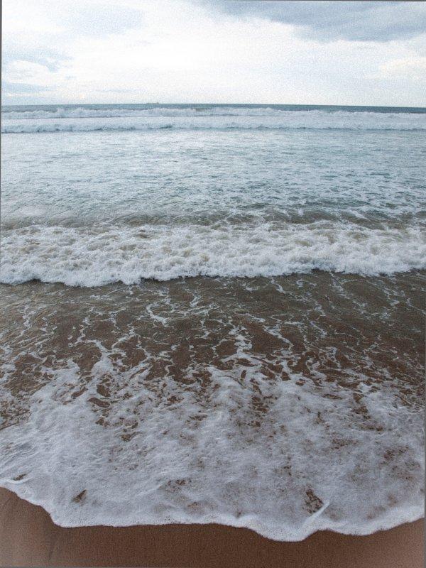 Strand op 100m.