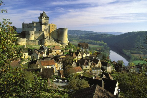 the village of Castlenaud, voted one of the most beautiful village of France, 12km away