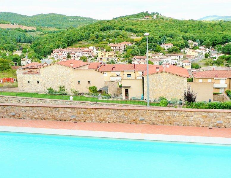 Belle vue panoramique de la piscine principale