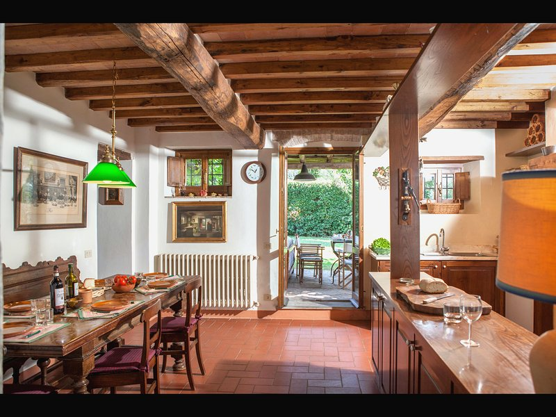 Kitchen with direct access to outdoor veranda