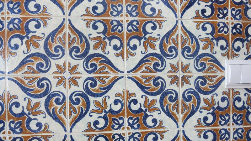 Traditional tiles inside and out
