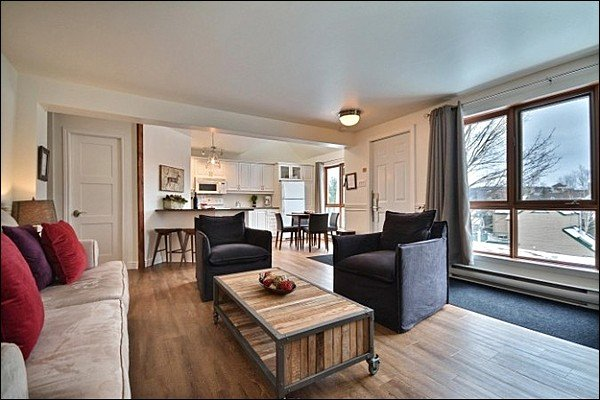 The Recently Renovated Cozy and Inviting Living Area