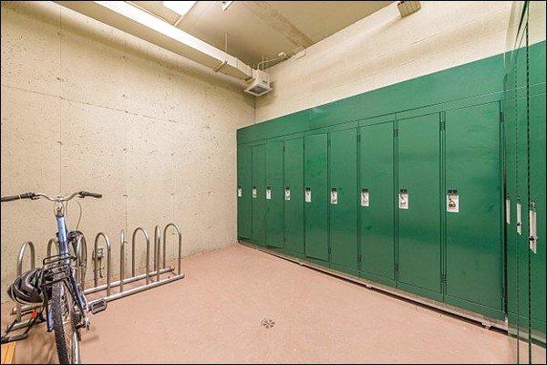 Lockers in Garage Area