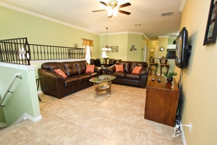 Open Floor Plan Living Area, Dining Area and Kitchen Area