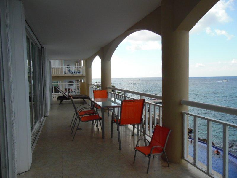 Long balcony facing South