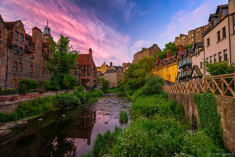 Dean Village - the location of the flat.  10 minutes from Princes Street.