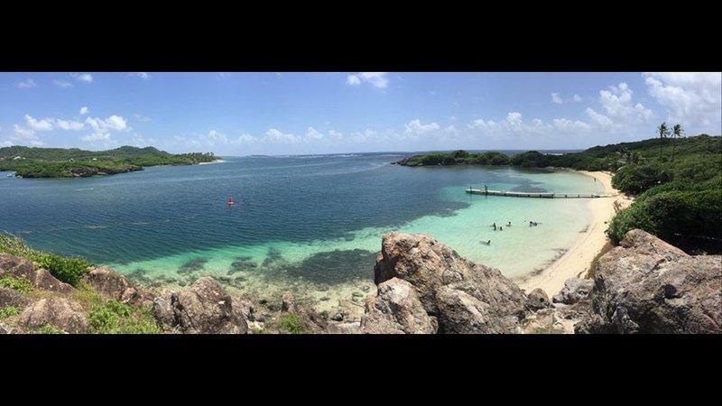 Il nostro cuore ictus Islet Chevalier per incontrare il Mar dei Caraibi e Oceano Atlantico.