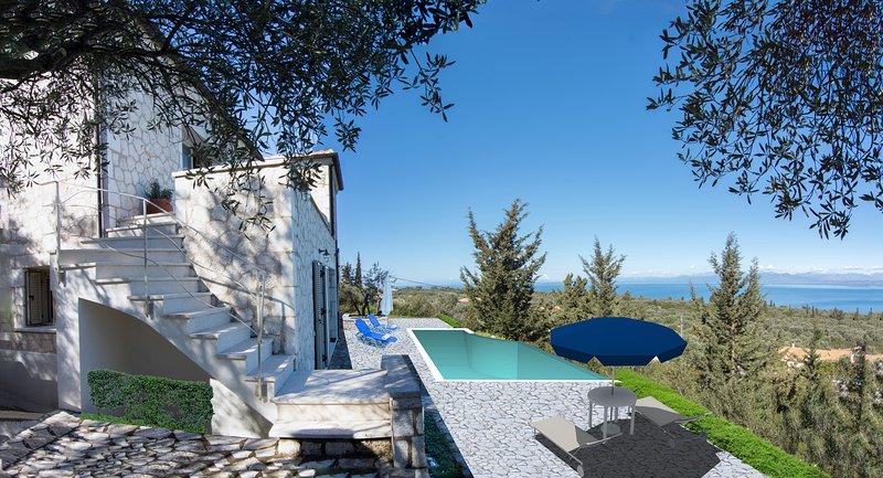 private pool & sea views