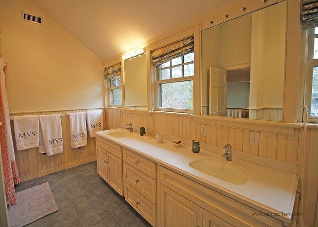 2nd Floor Shared Bathroom with Double Vanity