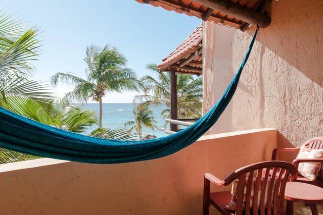 Sway in the ocean breeze in this one of 2  hammocks