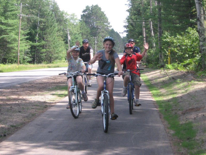 Paved bike trails-three miles from resort.