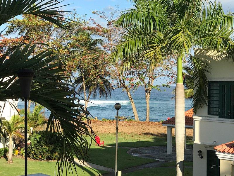 La vista desde la terraza