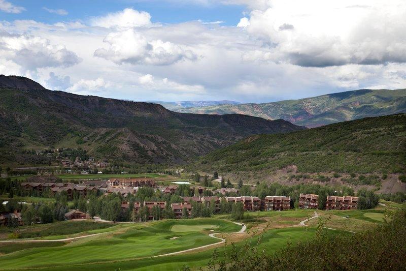 vista de Villas desde la parte superior del campo de golf