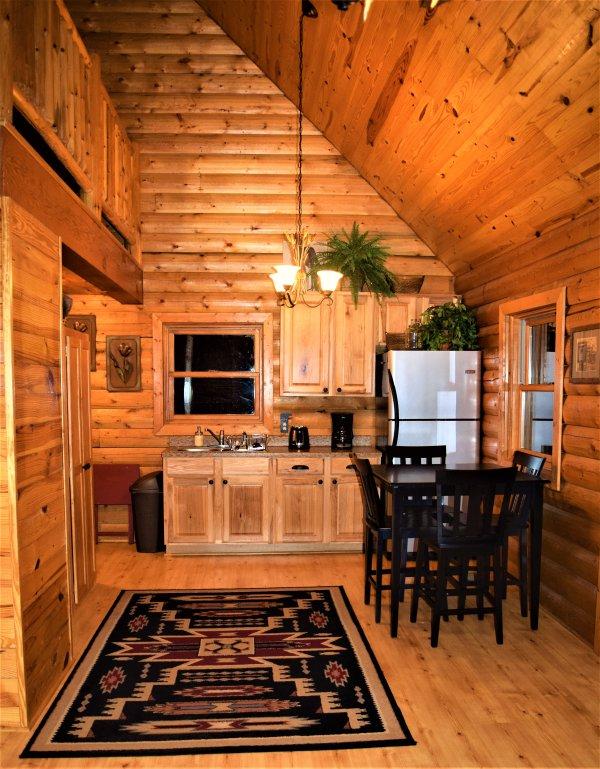 Kitchen and dining area ~Wolf Ridge Retreat