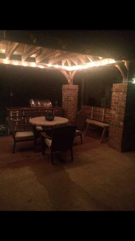 Gazebo with gas grill also a barbecue pit