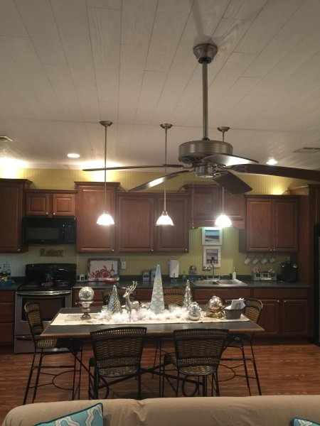 Large kitchen with ample seating