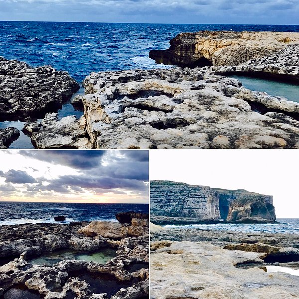 collage of some spectacular views of the island I took during my walks