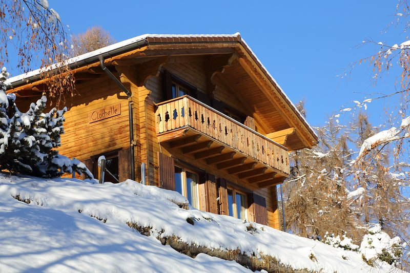 Charming chalet Clochette in 4 Vallees ski resort with 10% Skiticket discount, vacation rental in Canton of Valais