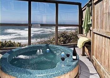 Hot tub with view!