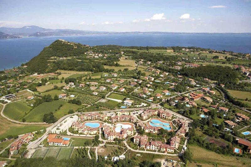 Birds-eye view over the resort