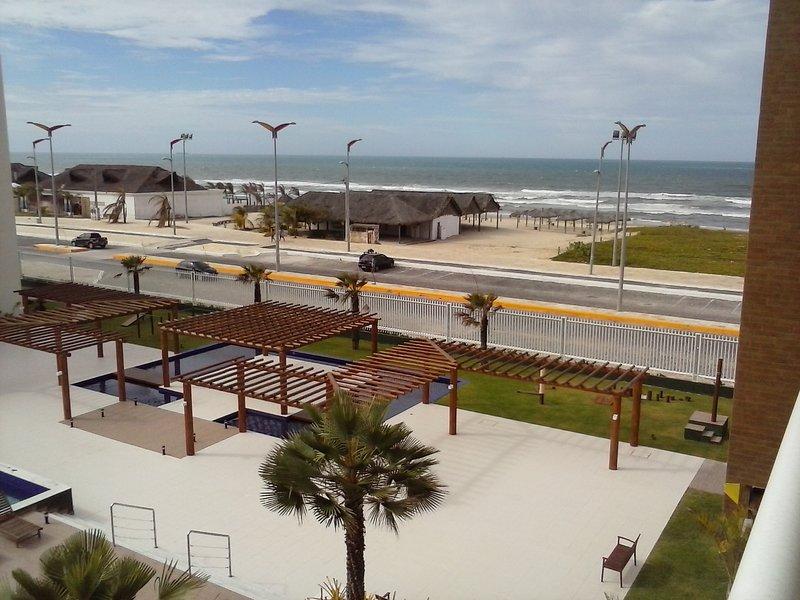 Vista del borde de Praia do Futuro.