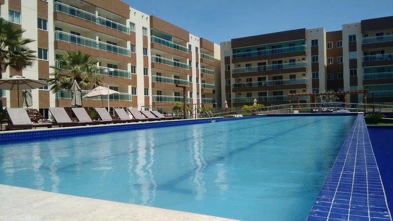 Área de piscinas.