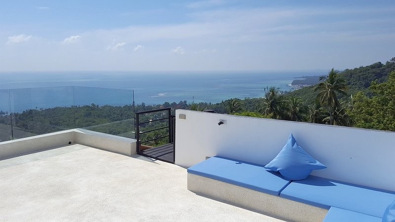 Wake up in a private mountain setting and watch the sun rising with breathtaking sea view