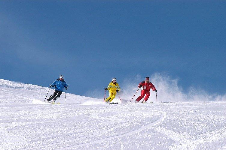 Ski-ing on the Postalm
