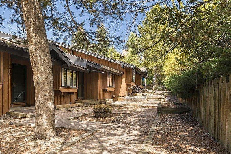 Bâtiment, Cottage, Flagstone, cour, Cobblestone