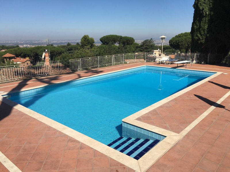 Our private swimming- pool set on a terrace overlooking Rome included in the room price