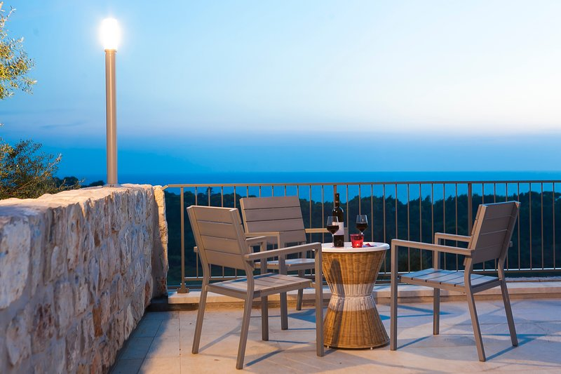 Panoramic stone villa with pool on island Sipan, near Dubrovnik